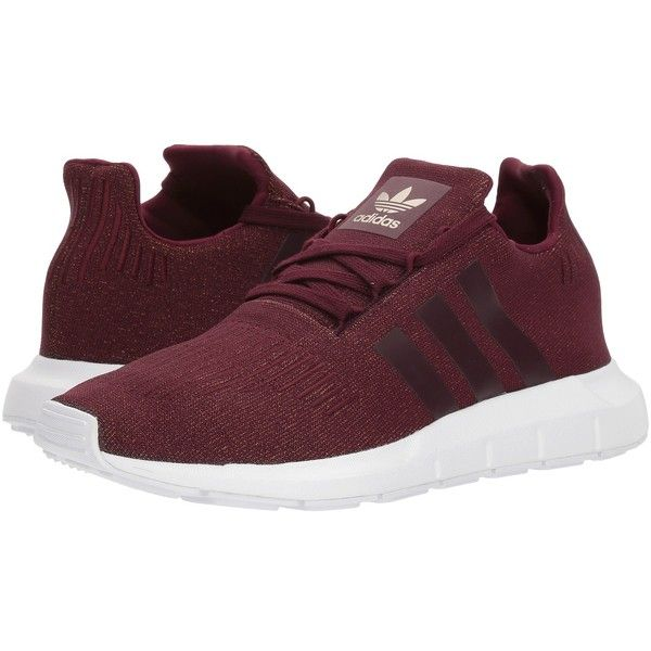 ef9748163be6 adidas Originals Swift Run (Maroon Maroon White) Women s Shoes ( 85) ❤  liked on Polyvore featuring shoes