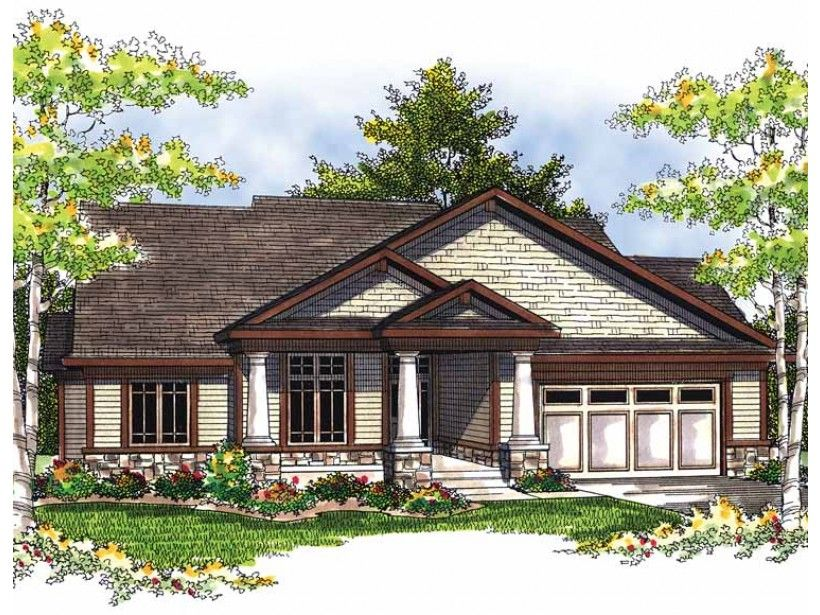 1 Story 1844 Square Foot Ready To Build House Plan From Builderhouseplans