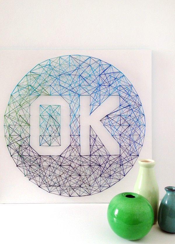 Attractive Lisa Tilseu0027s String Art U0027OKu0027 Project. Get The Tutorial Via We Are Scout.