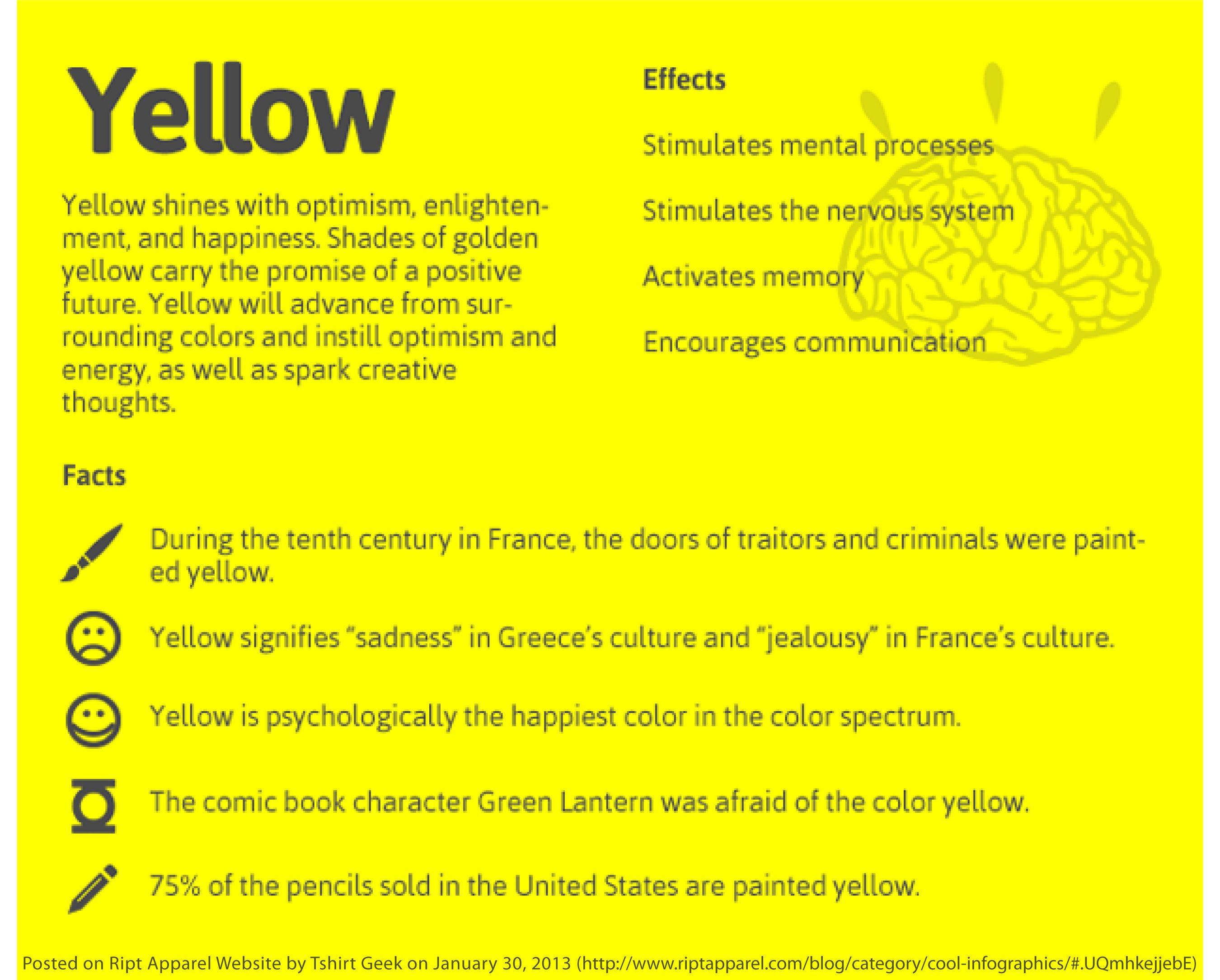 Yellow The Psychology Of Color Pinterest Color Psychology