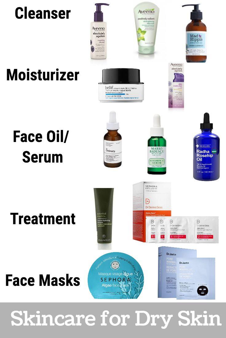 Skin Care Routine For Dry Skin Products Routine Produtos De Cuidados Para A Pele Cuidados Com O Cabelo De Mulher Pra Mulher