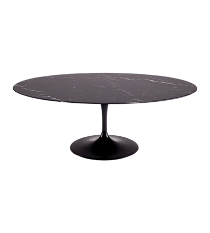 eero saarinen table ovale marbre marquina. Black Bedroom Furniture Sets. Home Design Ideas