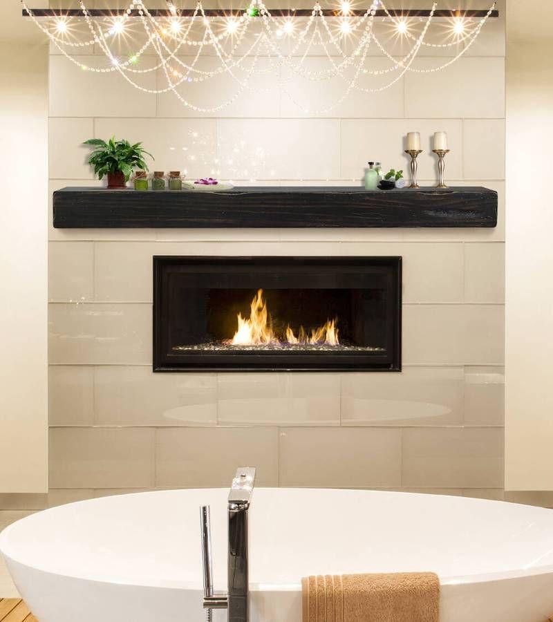 Pearl Mantels Shenandoah Rustic Wood Fireplace Mantel Shelf In
