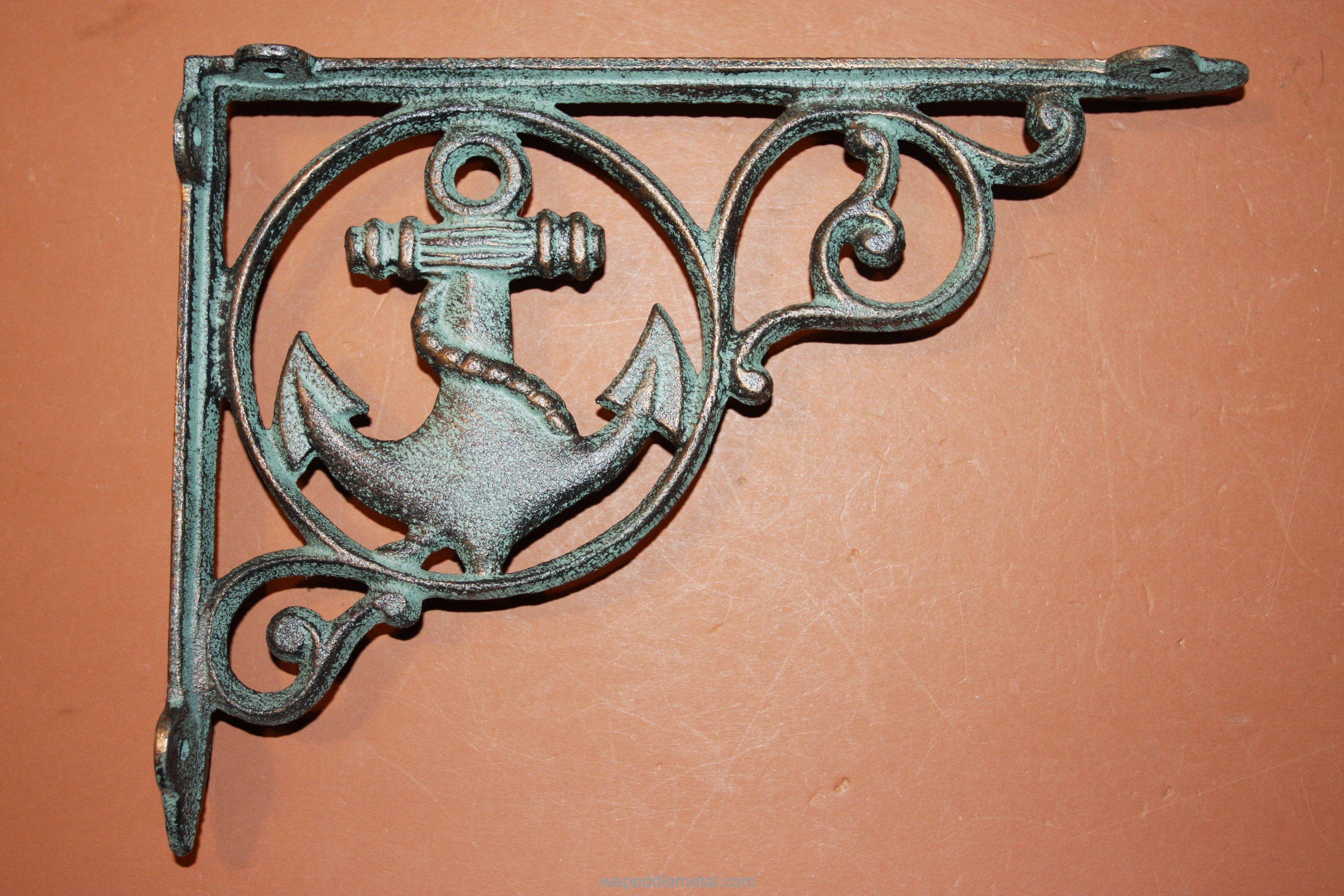 "Home Wall Decor Cast Iron Number 3 Wall Hook 6/"" Decor Nautical"