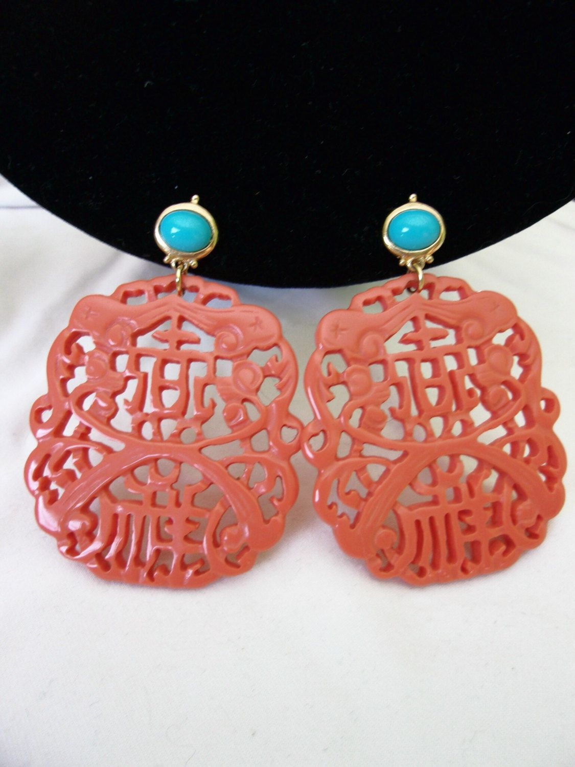 Kenneth Jay Lane Carved Coral Earring Coral HUCL1iDV