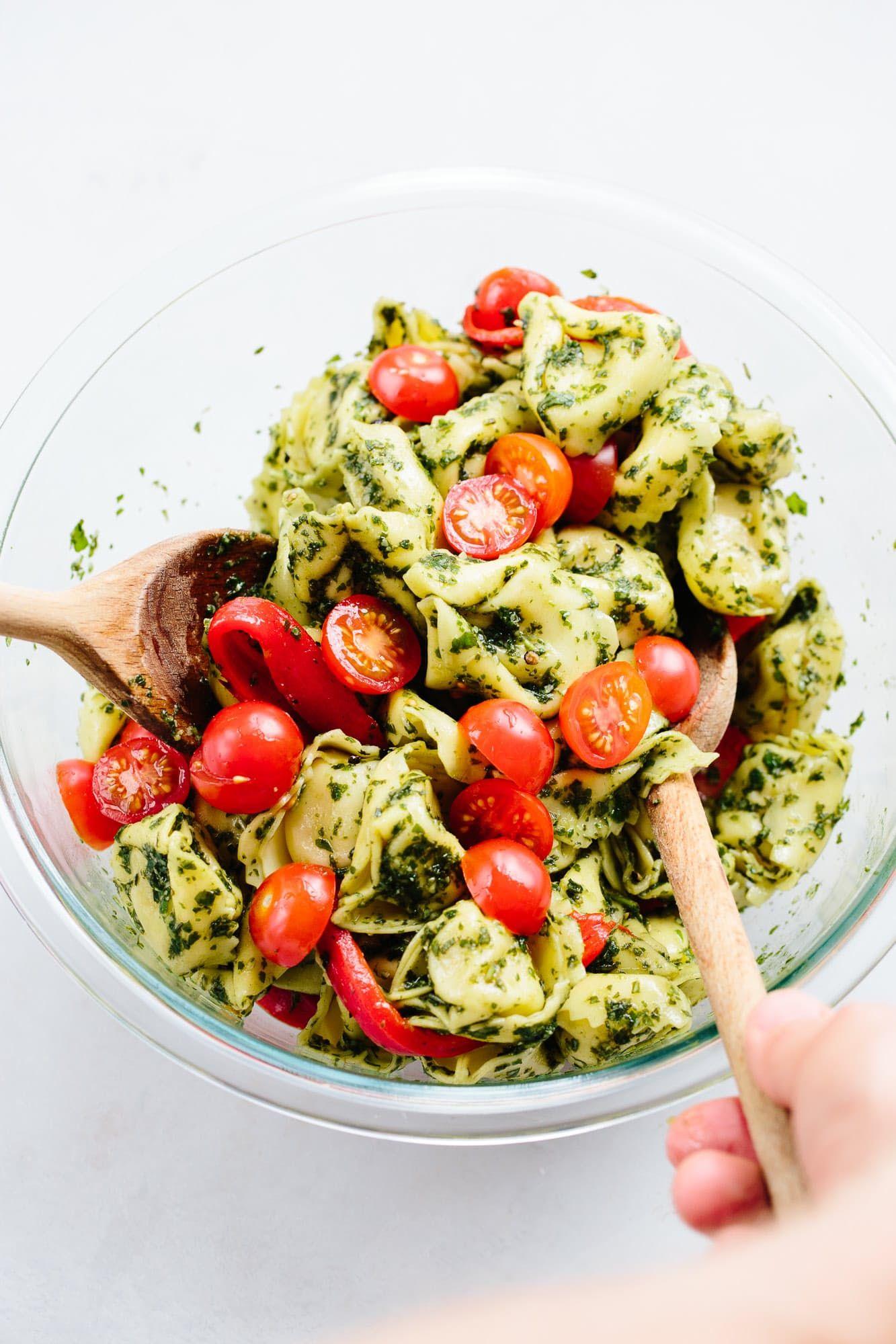 Pesto tortellini pasta salad recipe pasta salad with