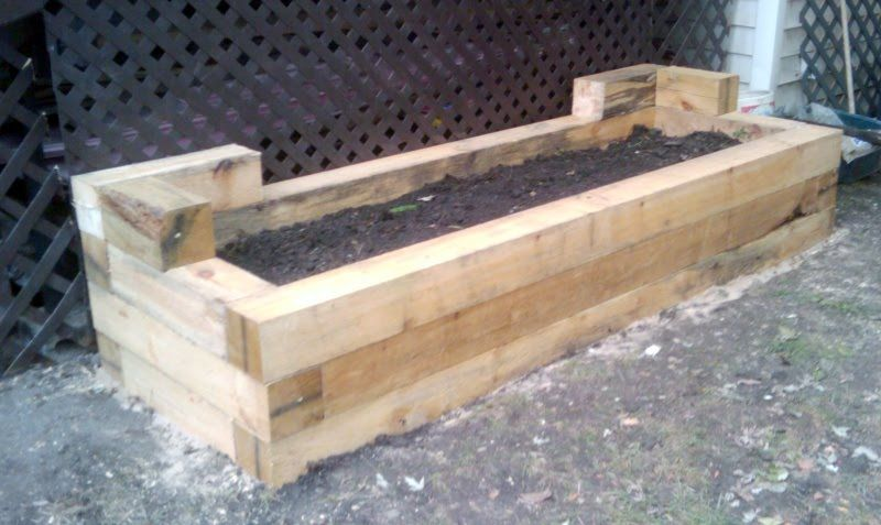 Planter Boxes Using 6x6 Treated Lumber Green Remodeling Planter Boxes The Constant Gardener