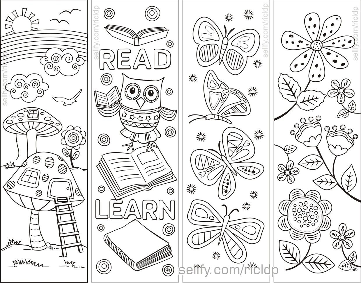 8 Simple Designs Coloring Bookmarks Coloring Bookmarks Coloring Bookmarks Free Detailed Coloring Pages
