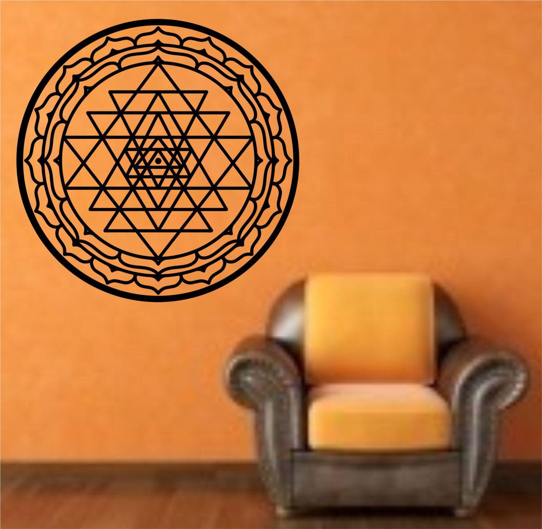 Wall Decoration Stickers In Sri Lanka : Sri yantra mandala geometric sacred geometry vinyl wall