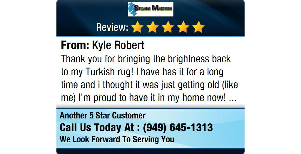Thank you for bringing the brightness back to my Turkish rug! I have has it for a long...