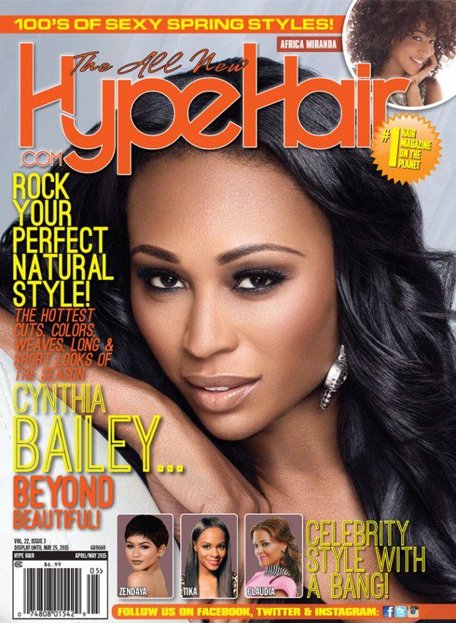 RHOA Star Cynthia Bailey on the cover of Hype Hair Magazine ...
