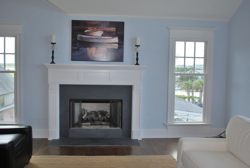 Beautiful White And Grey Wood Modern Design Fireplace Mantel Decorations Home Interior Surround