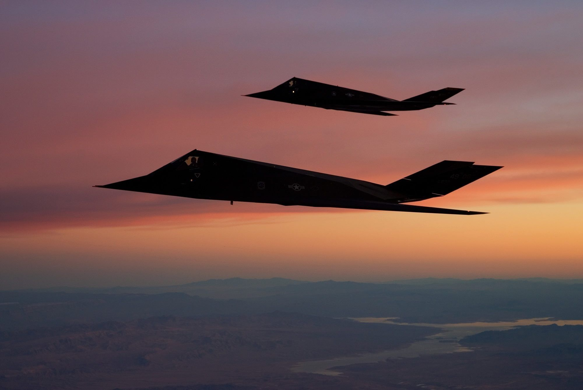 Sunset with F117s
