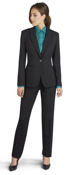 53f581d5b4365d Milano Black Trouser Suit | Garnitury | Suits, Trouser suits, Suits ...