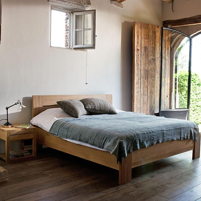 Simple Wood Furniture From Ethnicraft In Belgium Remodelista Oak Bed Frame Teak Bedroom Bedroom Furniture