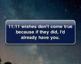 11 11 wishes don t come true because if they did i d already have