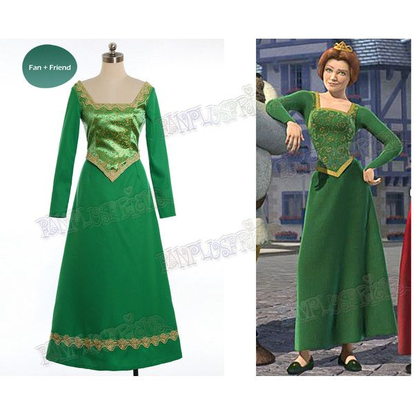 Disney Shrek Cosplay Princess Fiona Costume Renaissance Wedding Dress 180 Liked On