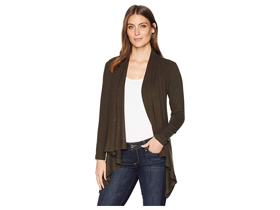 f0800a9fbe744d B Collection by Bobeau Amie Cardigan (Military Olive) Women's Sweater. For  women who want current flattering fashion that complements a go-to  lifestyle.