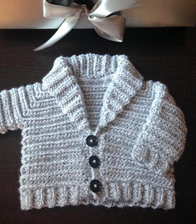 ffc2497524f2 4) Name   Crocheting   JORDAN Shawl Collared Baby Jacket