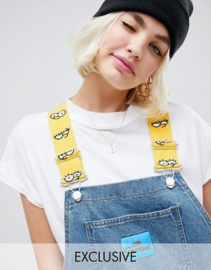 X Jean Wishlist The Asos À En Simpsons Salopette Design Bandes SzzR4