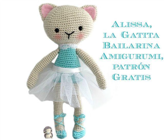 Alissa, la Gatita Bailarina Amigurumi, Patrón Gratis (MADRES ...