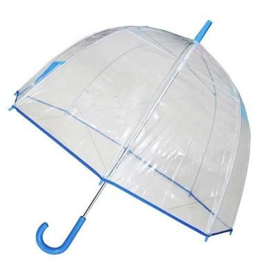 Conch Umbrellas 1265AXBlue Bubble Clear Umbrella, Dome Shape Clear Umbrella - Personal Care #clearumbrella