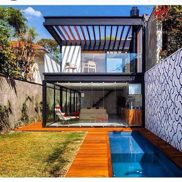 Resultado de imagem para estrutura metalica fachada for Casa minimalista tlalpan