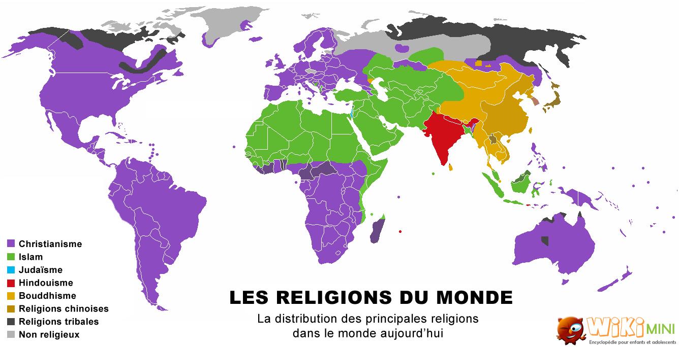 image de carte du monde Carte du monde des religions in 2020 (With images)