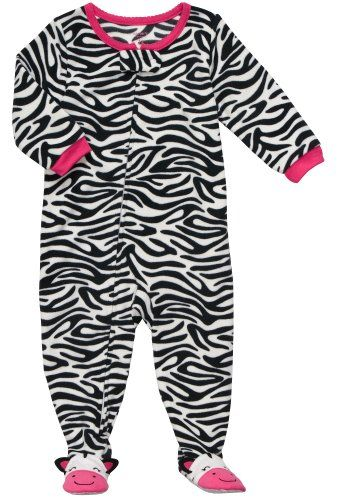 825f33d37 Carters Infant Footed Fleece Sleeper Zebra Print24 Months