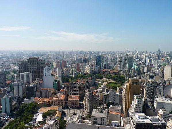 São Paulo visto do alto do edifício Banespa - Brasil