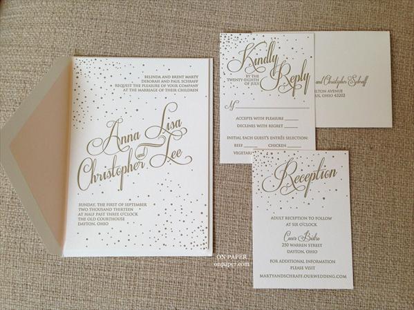 Beautiful Letterpress Invitation! Available At: On Paper   Columbus, Ohio  (614)