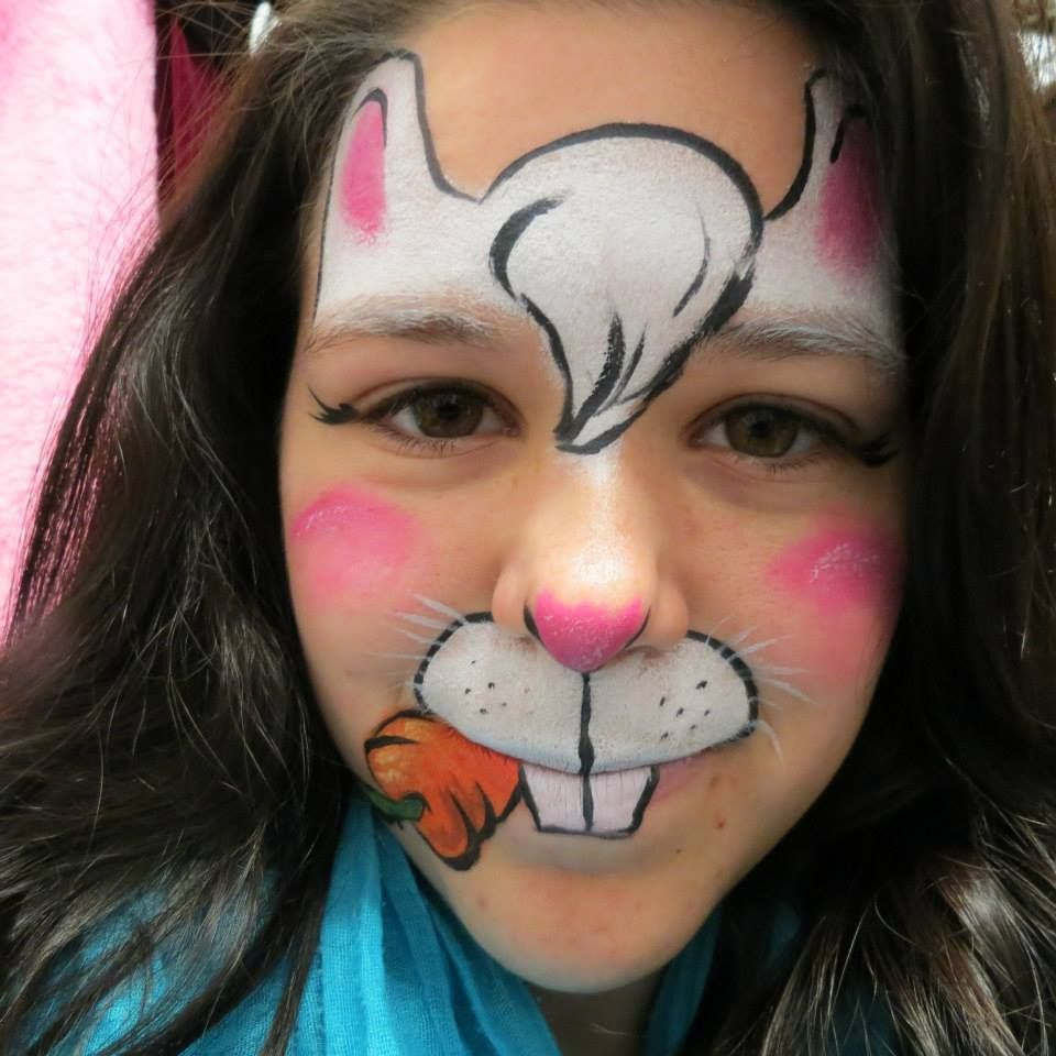 maquillage pour enfant lapin children make up rabit face painting for kids maquillage. Black Bedroom Furniture Sets. Home Design Ideas