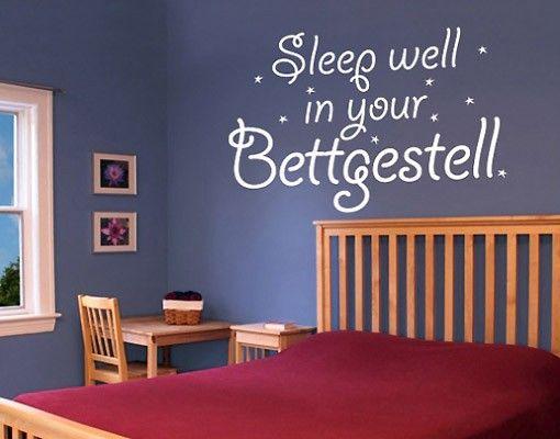 Wandtattoo Sprüche - Wandsprüche NoBR140 #sleep well - wandtattoos schlafzimmer sprüche