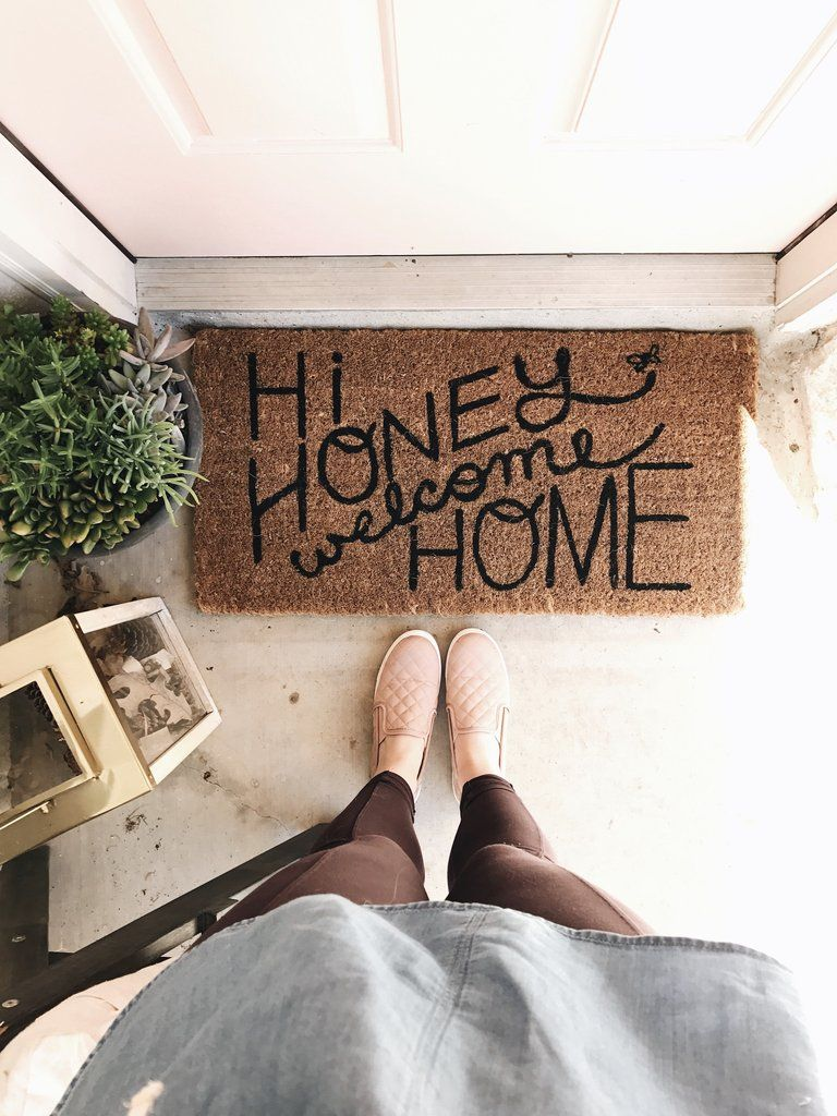 Hi Honey Welcome Home Doormat I Would Change The Spacing A