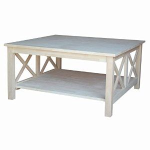 Amazon.com: International Concepts OT-70SC Hampton Square Coffee Table Unfinished: Kitchen & Dining