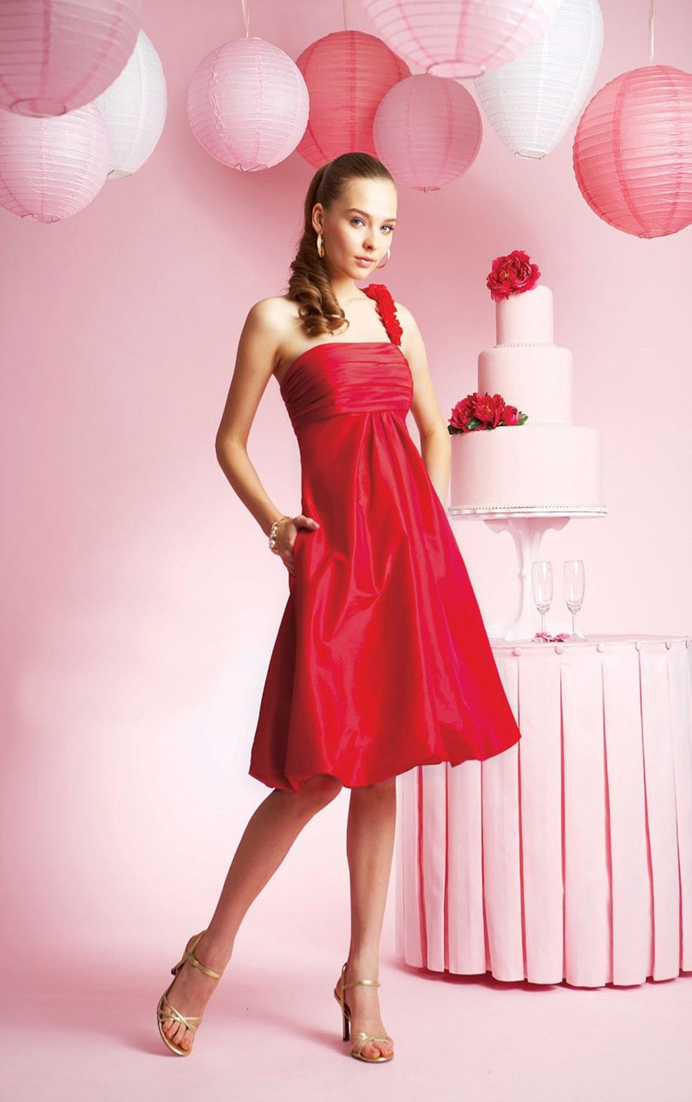 red bridesmaid dress | Our Wedding | Pinterest