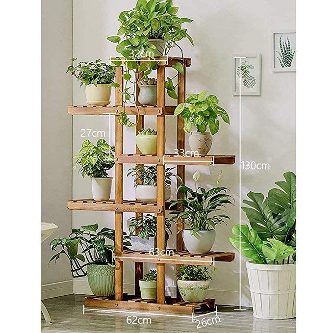 Jz Meubles A La Maison Support A Fleurs En Bois Support Pour Plantes D Interieur Suppor Decoration Plantes Interieur Tablettes Pour Plantes Support Pour Plante