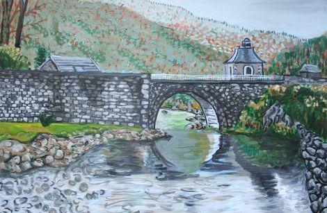 Joseph M Dunn, Pyrenees stream on ArtStack #joseph-m-dunn #art