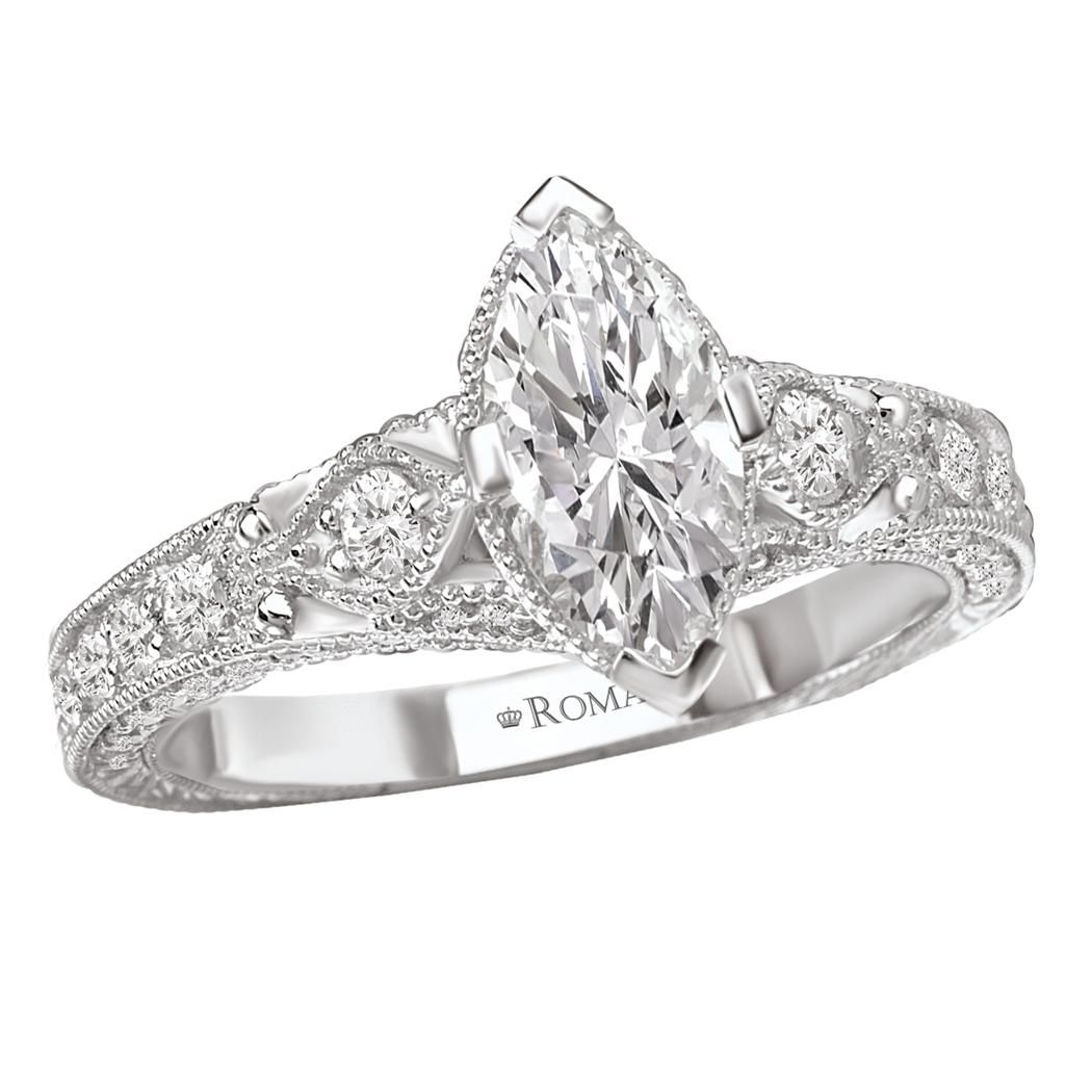 Marquise diamond setting ideas - 3 Stone Marquise Engagement Rings And Bands Sets 50