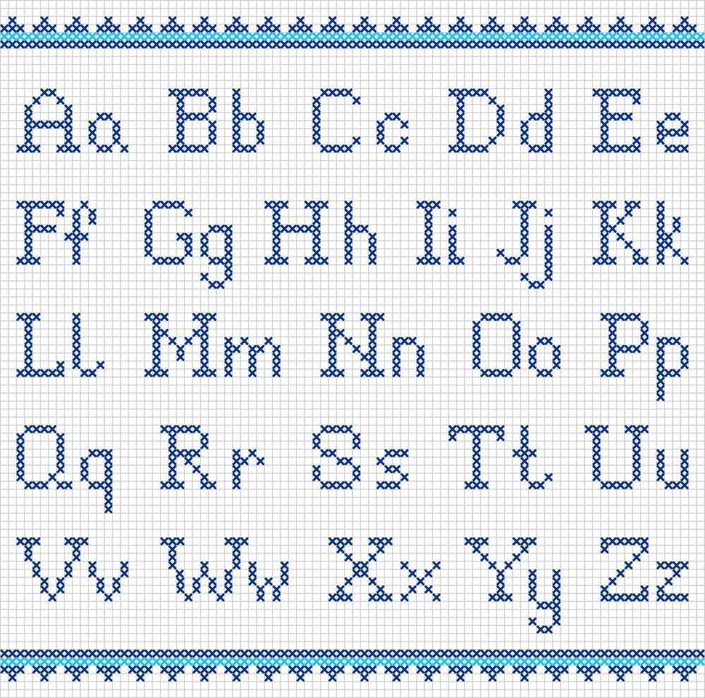 Schemi Punto Croce Personalizzare Grembiulini Alphabet Pinterest