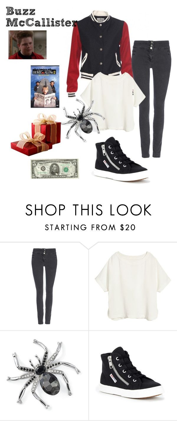 """Buzz McAllister - Home Alone 2"" by ashleigh-kuzio on Polyvore featuring Wallis, H&M, Natures Jewelry and Superga"