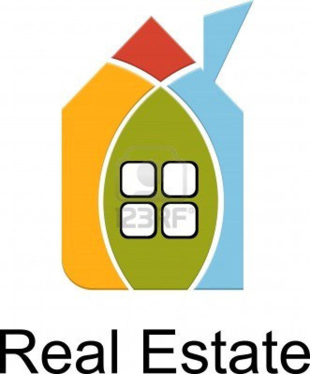 casa de bienes raíces de las tarjetas de color Foto de archivo