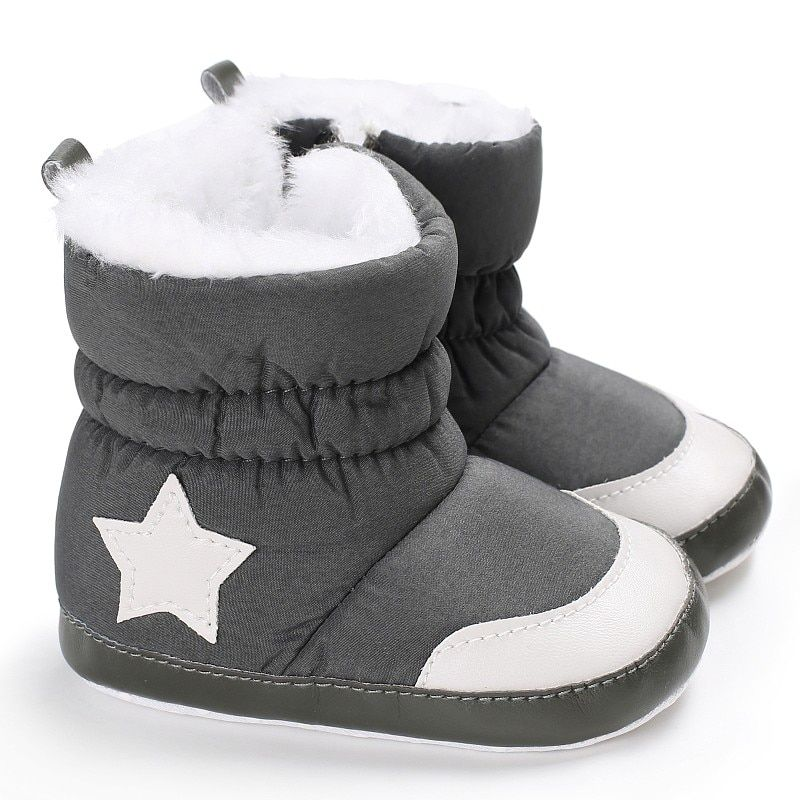 f1c96021b816 Newborn Baby Unisex Kids Winter Shoes Infant Toddler Boy Girl Five Star  Pattern Snow Boots Cute Warm Shoes Price: 3.98 & FREE Shipping #mother