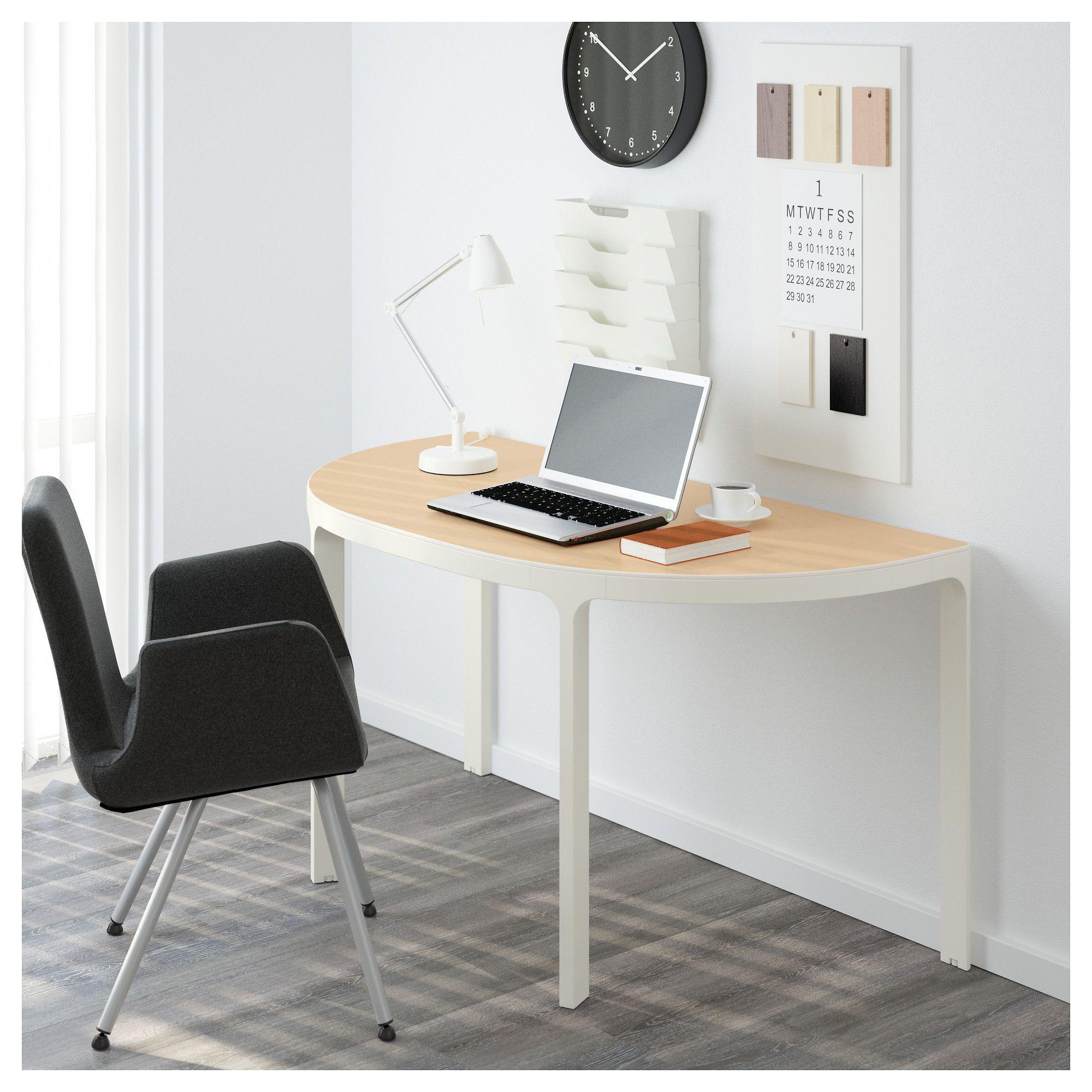 Attirant IKEA   BEKANT Frame For Half Round Table Top White