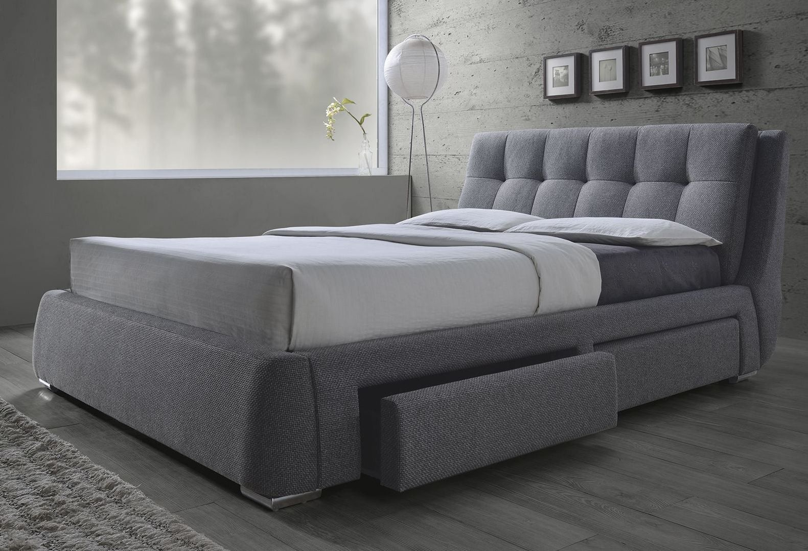 Fenbrook Gray King Platform Storage Bed by Coaster - You\'ll get the ...