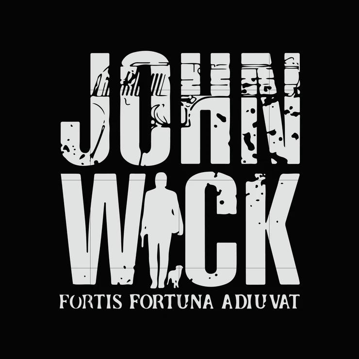 John Wick Fortis Fortuna Adiuvat Svg Dxf Eps Png Digital File Fortuna Svg Quotes John Wick