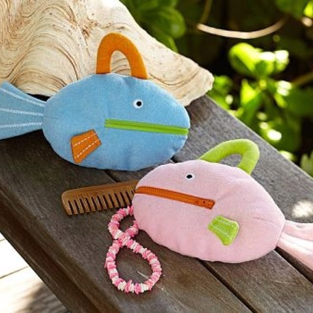 Fish Bags Toiletry Bag Terry Cloth Terry