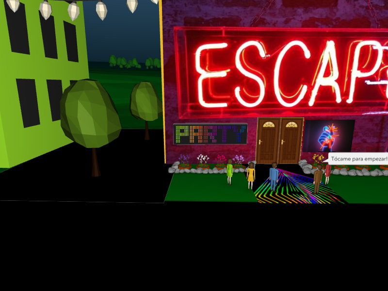 Begona Codesal created this escape game with CoSpaces and Blockly