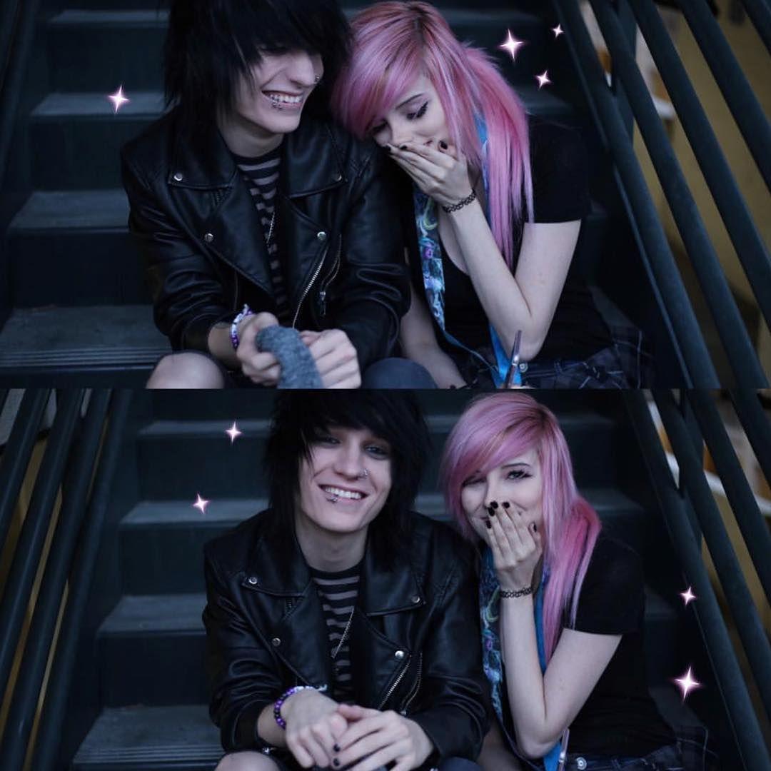 Alex and johhine oo absolute goaaaaals emo couples pinterest