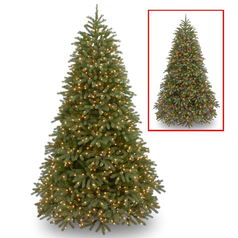 National Tree Company 6 5 Ft Jersey Fraser Fir Medium Artificial Christmas Tree With Dual Color Led Lights Pejf1 302ld 65 The Home Depot Artificial Christmas Tree Pre Lit Christmas Tree Fir Christmas Tree